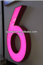 Galvanized sheet led used outdoor lighted signs