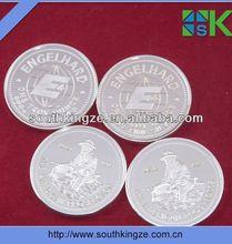 USA silver plated 1oz.fine coin brass