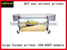 Xenons X3A-6407 eco solvent printer ,DX7 print head inkjet printer