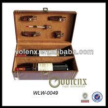 Luxury PU Leather Wine Charm Packing Box