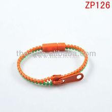 2013 Mixed double color plastic cheap zipper bangle hot sale