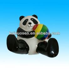 Decorative ceramic panda with ball