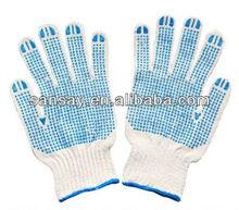 pvc spot working gloves