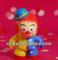 Personagem de banda desenhada brinquedos de palhaço ; plástico colorido clown figura