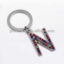 2013 fashion trendy Rhinestone Zinc Alloy Letter Key Chain wholesales
