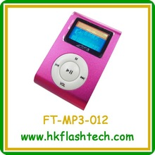 Waterproof mini chip wma mp3 player with screen