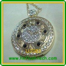 Classical watch design necklace usb flash ,64gb usb storage driver