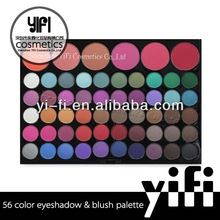 Professional Cosmetic!56 Color Eyeshadow And Blush Palette loose powder