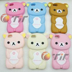 new products for iphone 5 cute 3D cartoon Rilakkuma bear case soft silicone case