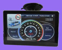 7 inch GPS player with Digital touchscreen car radar gps detector