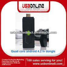 Quad core HDMI mini Android 4.2 TV dongle/Android TV box