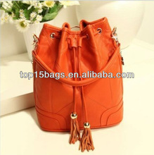 korea fashion Orange Hobo design school bags 2013