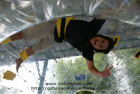 Inflatable Human Hamster Glass Roller Zorb Ball for Ramp Zorbing.
