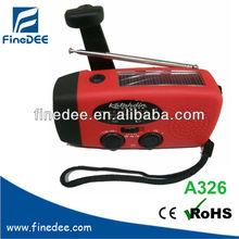 A326 Solar panel AM/FM Radio Generator light hand