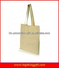 nature plain eco cotton canvas fabric tote shopping bag