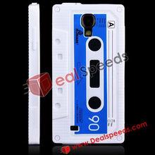 Retrospective Cassette Silicone Mobile Phone Skin Case for Samsung Galaxy S4 I9500 (White)