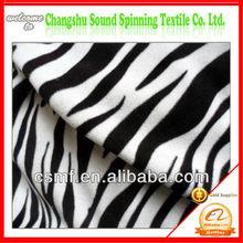 bonded polar fleece fabric in polyester with zebra prints