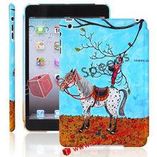 For iPad Mini Cartoon, Beautiful Horse Under A tree Pattern Hard Cover Shell For iPad Mini