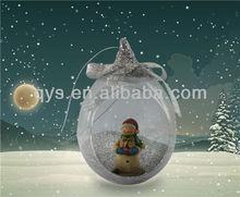 Snowman inner glass ornaments for Christmas