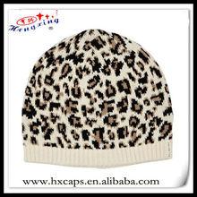 100 Acrylic custom spandex leopard animal instinct beanie hat