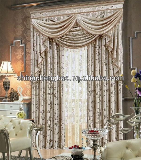 Luxury Living Room Curtain With Fancy Valance Buy Elegant Living Room Curta