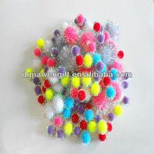 Crafter's Square Bright Glitter Pompoms For Decoration