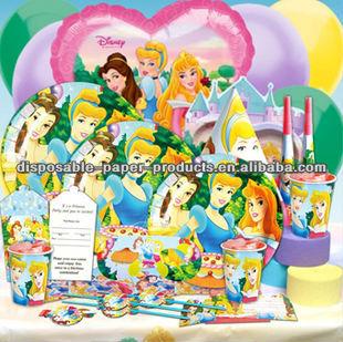 الطرف الامدادات تحت عنوان عيد ميلاد الفتيات الاميرة سندريلا بيل وزخارف حفلة عيد ميلاد لوازم الجمال النائم
