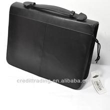 Cheap Formal Mens Briefcase Leather Portfolio Bag