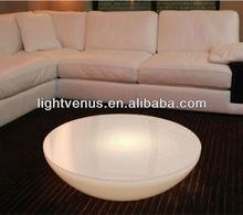 Acrylic LED half moon round table
