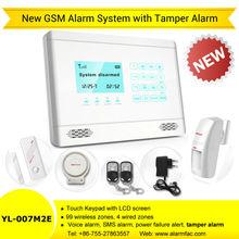 Anti Intrusion Intelligent GSM Network Alarm System with Intercom Remote Control