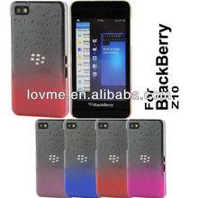 case for 3D rain drop design hard back cell phone case cover for Blackberry Z10 in stock