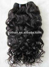 "Factory price!Natural colour #1B 14""16""18""20"" deep wave 100% virgin brazilian human hair weaving hair extension"