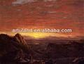 Pintado a mano paisaje de la montaña pintura al óleo