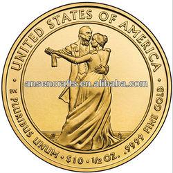 Julia Tyler dancing souvenir gold coin
