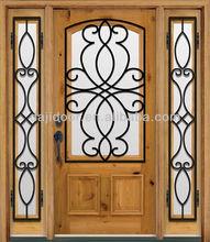 Wrought Iron Timber Wood Doors Australia DJ-S9115MWST-5