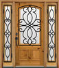 Wrought Iron Timber Wood Doors Australia DJ-S9115MWST-5