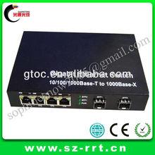 4 port 1000M Gigabit Optical Ethernet Fiber Switch