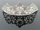 fashion crystal stone braidal hair comb tiaras wedding tiaras
