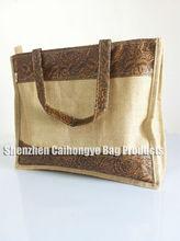 hottest sale designer jute printed bag made in guangdong