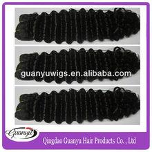 Hot Sale Natural Color Deep Wave Kbl Peruvian Hair