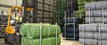 Tile artificial garden grass rubber