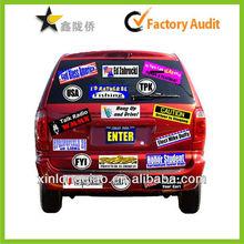 2013 Hot Custom print car logo sticker and car sticker