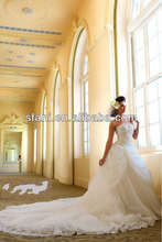 4.25WD-02 Elegant 2013 New Style Sweetheart Neckline Flowers Royal Train Flowers made in china wedding dresses