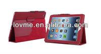 case for New iPad 4 iPad 3 & iPad 2 Premium Folio Leather Case / Cover and Flip Stand