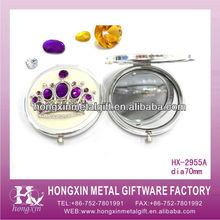 HX-2955A Round Crown Metal Mini Make Up Kits