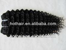 "in stock wholesale!Natural colour #2 14""16""18""20"" deep wave 100% virgin brazilian human hair weaving hair extension"