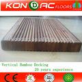 En bambou plancher terrasse extérieure manufacture. vend directement, comprimé vertical, durabilité et imperméable à l'eau plancher extérieur