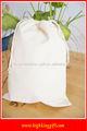 liso branco reciclado com cordão de algodão saco de embalagem de arroz