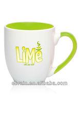 beautiful colored elegant coffee ceramic mug