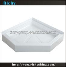 foshan fiberglass and acrylic corner shower tray